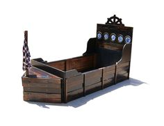 Image of: Handmade Pirate Ship Twin Bed