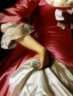 Mrs. George Watson,1765,detail.John Singleton Copley.