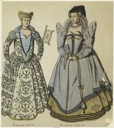 Parisienne, From New York Public Library Digital Collections. French Outfit, Renaissance Fashion, New York Public Library, Picture Collection, Western Outfits, Still Image, Fashion Accessories, Princess Zelda, Costumes