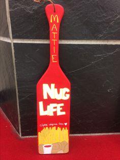 AST McDonald's chicken nugget sorority paddle