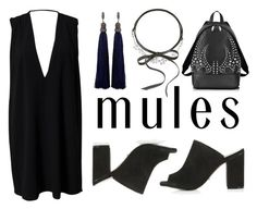 """""""Slip 'Em On: Mules"""" by eva-jez ❤ liked on Polyvore featuring Fallon, Topshop, Solace, Lanvin, Alexander Wang and mules"""