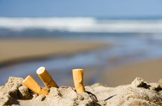 Did you know that a cigarette butt takes from 2 to 4 years to deteriorate? Our beaches are not ashtrays! ‪#‎ImTheChange‬   www.sandos.com   ¿Sabías que una colilla de cigarro tarda en descomponerse de 2 a 4 años? ¡Nuestras playas no son ceniceros! ‪#‎SoyElCambio‬