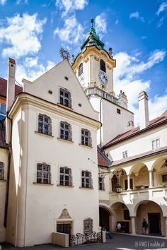 The courtyard of the Old Town Hall (Stará radnica), Old Town in Bratislava, Slovakia