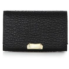 Burberry Wellington Pebbled Leather Wallet ($495) ❤ liked on Polyvore