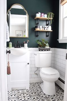 Charming Green Bathroom Colors 66 For Interior Design For Home Remodeling for Green Bathroom Colors Can you Want a good living room decoration concept? Well, for this particular thing, you have to understand about the Green Bathroom Colors. The subje. Upstairs Bathrooms, Downstairs Bathroom, Master Bathroom, Bathroom Wall Ideas, Budget Bathroom, Bathroom Accent Wall, Bathroom Decor Sets, Bathroom Hacks, Bathroom Paint Inspiration