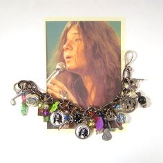 JANIS JOPLIN CHARM Bracelet Rock n Roll Icon. $25.00, via Etsy.