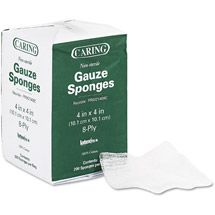 Gauze sponges.   Walmart: Medline Caring Non-Sterile Gauze Sponges, 200 count #firstaid #medkit #bushsmarts #survival #gear #outdoors #camping #hiking #mountaineering #campinggear #manstuff