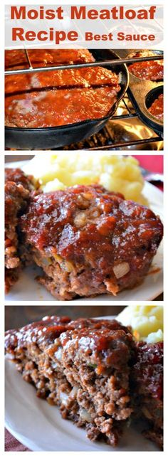 Moist Meatloaf Recipe with the Best Sauce – This meatloaf is the best ever. Extr… Moist meatloaf recipe with the best sauce – This meatloaf is the best ever. Extremely moist and spicy! : Recipes for our daily bread Moist Meatloaf Recipes, Meat Recipes, Cooking Recipes, Mexican Recipes, Casserole Recipes, Mexican Desserts, 5 Lb Meatloaf Recipe, Recipies, Meatloaf Ingredients