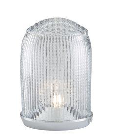 CAR LIGHT, Table Lighting - Base in chromed aluminium. Shade in transparent mouth-blown glass. Desk Light, Light Table, Lamp Light, Table Lighting, Ligne Roset, Table Lamp Base, Lamp Bases, Car Lights, Ceiling Lights