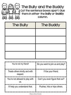 Anti-Bullying Activities With Posters Distance Learning Bullying Worksheets, Anti Bullying Lessons, Anti Bullying Activities, Activities For Kids, Effects Of Bullying, Bullying Prevention, Verbal Abuse, Social Skills, Social Work
