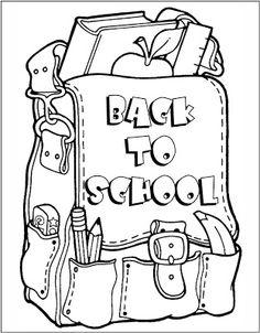 back to school coloring page freebie kindergartenklub com