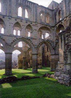 Rievaulx Abbey in Helmsley, North Yorkshire, England, by Stephen Laverack Abandoned Castles, Abandoned Buildings, Abandoned Places, Beautiful Ruins, Beautiful Buildings, Beautiful Places, Ancient Architecture, Beautiful Architecture, Places To Travel