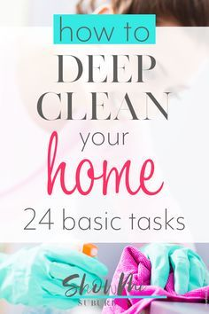 Love this article on deep cleaning! This deep cleaning checklist of whole-home tasks provides easy tips to get your home extra clean. Great for families and working moms! Perfect to get your home ready for company or the holidays. Speed Cleaning, Cleaning Day, Bathroom Cleaning, House Cleaning Tips, Diy Cleaning Products, Cleaning Hacks, Weekly Cleaning, Kitchen Cleaning, Apartment Cleaning