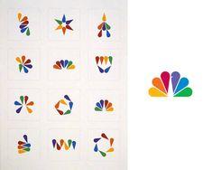 NBC logo tangram