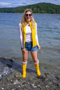 My 4th of July Weekend Plans | Lifestyle | Whit Wanders Yellow Rain Jacket, Hunter Boots Outfit, Islands In The Pacific, Rainy Day Fashion, Weekend Plans, Family Traditions, The 4, Vest Jacket, My Outfit