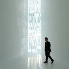Rainbow Church by Tokujin Yoshioka The installation consists of a window made of 500 crystal prisms, which create rainbows within the space as the light is refracted. Sacred Architecture, Church Architecture, Love And Light, Light In The Dark, Chiaroscuro, Light Installation, Dezeen, Japanese Artists, Light Art