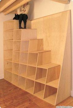 estante - escada / bookshelf - stair