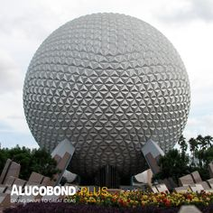 Spaceship Earth at Epcot in Walt Disney World was the first project in North America to use domestically produced ALUCOBOND®. Spaceship Earth, Metal Panels, Epcot, Walt Disney, North America, Bronze, Projects, Log Projects, Blue Prints
