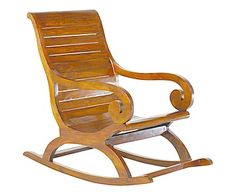 Rocking-chair bois de mindi, chocolat - L56