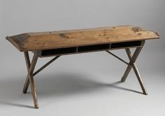 Rare Early X Frame Library or Clerk's Table. c. 1780