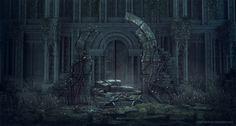 Ruins, Ste Flack on ArtStation at https://www.artstation.com/artwork/X3N4n