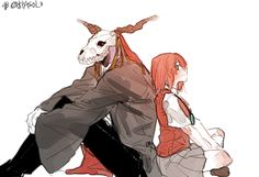 the ancient magus bride Bride Tumblr, Elias Ainsworth, Chise Hatori, Best Romance Anime, Manga Anime, Anime Art, The Ancient Magus Bride, Otaku, Anime Kawaii