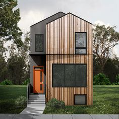 Bldg Studio Inc. has a wide variety of stock plans available for purchase. Micro House Plans, Narrow Lot House Plans, Duplex House Plans, Garage House Plans, Modern House Plans, Loft House, Narrow House Designs, Duplex Design, Plans Architecture