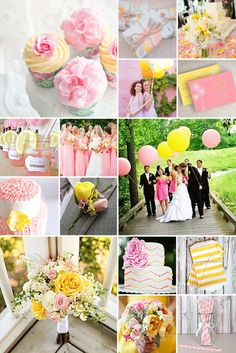 Pink and Yellow Wedding Inspiration Pink Wedding Decorations, Wedding Themes, Wedding Ideas, Wedding Stuff, Dream Wedding, Wedding Color Schemes, Wedding Colors, Wedding Flowers, Light Yellow Weddings