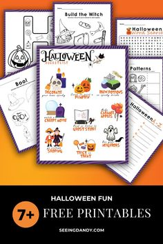 These free Halloween printables are perfect for kids to do at home, at the school Halloween party, or for elementary teachers to email out to their classes. So much fun and DIY! #diy #halloween #printable #printables #school #backtoschool #halloweenparty #halloweenfun Halloween Words, Halloween Crafts For Kids, Outdoor Halloween, Halloween Projects, Diy Halloween Decorations, Holidays Halloween, Fall Crafts, Halloween Ideas, Happy Halloween