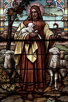 "I am the good shepherd, the good shepherd gives His life for the sheep."" (John 10:11)  Picture taken at St. Sebastian Catholic Church by Russ Martin"