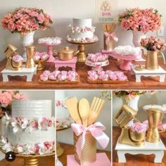 New Shabby Chic Cake Table Ideas Bridal Shower Tables, Bridal Shower Decorations, Birthday Party Decorations, Birthday Parties, Wedding Decorations, Table Decorations, Kitchen Shower Decorations, Bridal Showers, Cake Table