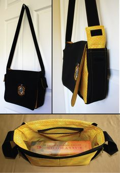 Hufflepuff bag -inspiration to make my own (cause I don't want to spend $100 for one)