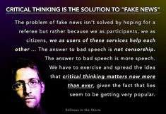 SNOWDEN: Solution To 'Fake News' Is Critical Thinking, Not Censorship -- It's Time to Become Masters of Discernment | Stillness in the Storm