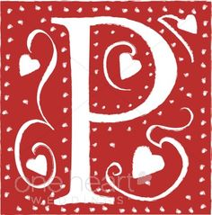 Red Letter P Clipart