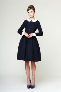 Image of Liana - Woolen dress with detachable collar and cuffs  This is an incredible shop. Such beautiful dresses. I want to buy/make all of them. So so so so lovely.