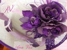 Pamelas y semipamelas con flores artesanales.