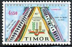 Centro medico - Timor 1966 Francobolli Medicina - Medicine Stamps Ospedali e luoghi di cura - Hospitals and Places of Care Timor Leste, My Roots, Beautiful Sunrise, My Stamp, Stamp Collecting, Southeast Asia, Portuguese, Postage Stamps, Revolution