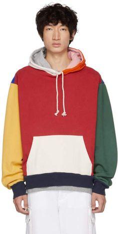 beba5da945d3 424 Multicolor Colorblocked Oversized Hoodie