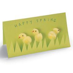 Spring greeting  http://familyfun.go.com/easter/easter-crafts/all-easter-crafts/spring-peeps-668443/
