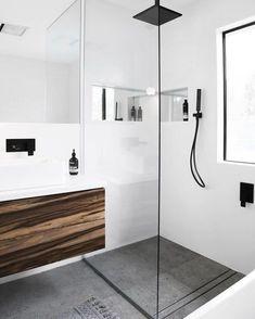 Shower Recess – Tips and Tricks – Small Bathroom Renovations Perth – Small Bathrooms WA Specialists Bathroom Renos, Laundry In Bathroom, Budget Bathroom, Bathroom Renovations, Bathroom Ideas, Bathroom Taps, Bathroom Feature Wall Tile, Rain Shower Bathroom, Remodel Bathroom
