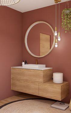 Small Bathroom Vanities, Bathroom Design Small, Bathroom Colors, Bathroom Renovations, Home Remodeling, Home Office Design, House Design, Sweet Home, Terracota