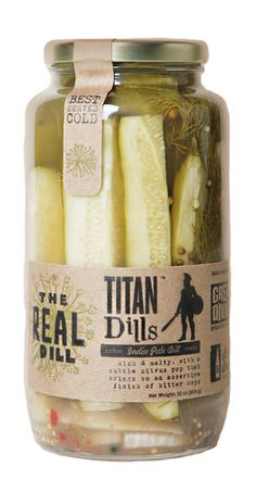 The Real Dill on Packaging Design Served Beer Packaging, Packaging Design, Collateral Design, New Job, Kimchi, Pickles, Cucumber, Cooking Recipes, Homemade