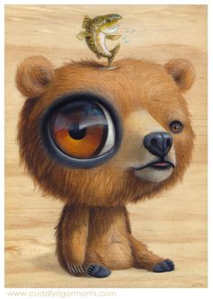 """""""Gwizzly"""" acrylic on wood -- SOLD"""