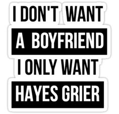 "hayes grier shirt | HAYES GRIER MAGCON "" Stickers by CharliesF 
