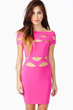 vintage #ThierryMugler dress featuring cutout detailing with zig zag panels and a scoop neckline. find more women fashion ideas on www.misspool.com
