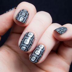 The Lacquer Legion Adoration: I Adore Nail Art | Chalkboard Nails | Nail Art Blog