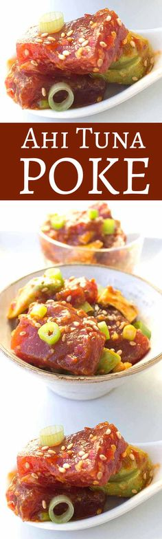 Ahi Tuna Poke – Easy, healthy, and delicious Hawaiian fish recipe. Takes less than 10 min to make.