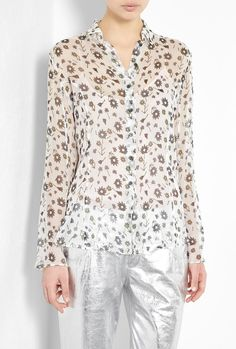 Floral Print Shirt by Theyskens' Theory