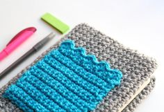 one sheepish girl: A Crochet Cozy for My Planner - cute idea! Maybe this would make me want to use a planner more!