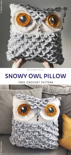 Home Decor Styles Huggable Owl Pillow Crochet Free Patterns.Home Decor Styles Huggable Owl Pillow Crochet Free Patterns Owl Crochet Patterns, Crochet Owls, Crochet Motifs, Crochet Cushions, Crochet Home, Crochet Crafts, Knit Crochet, Knitting Patterns, Owl Patterns